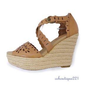 Aerin tan Sandal wedge